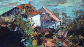 """""""Хуторок"""" холст, масло, 2012 год"""