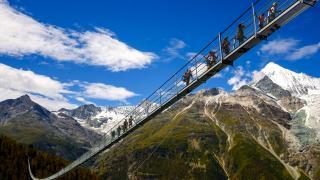 Открыт самый длинный подвесной пешеходный мост