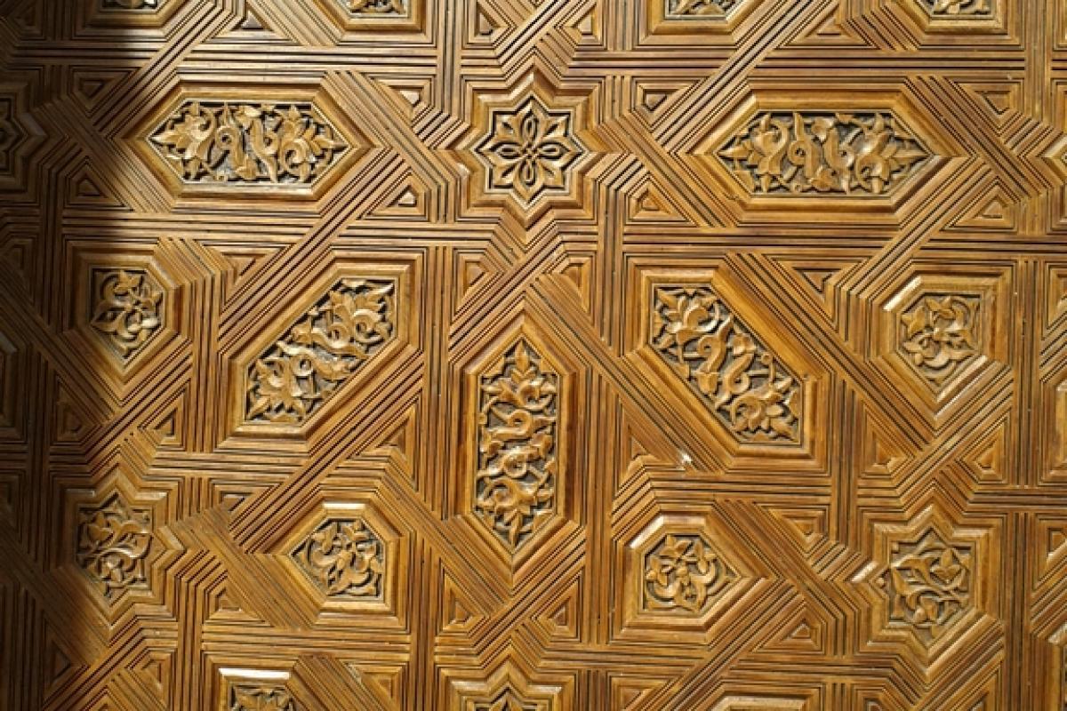 Granada es Detalle de puerta ensamblada.